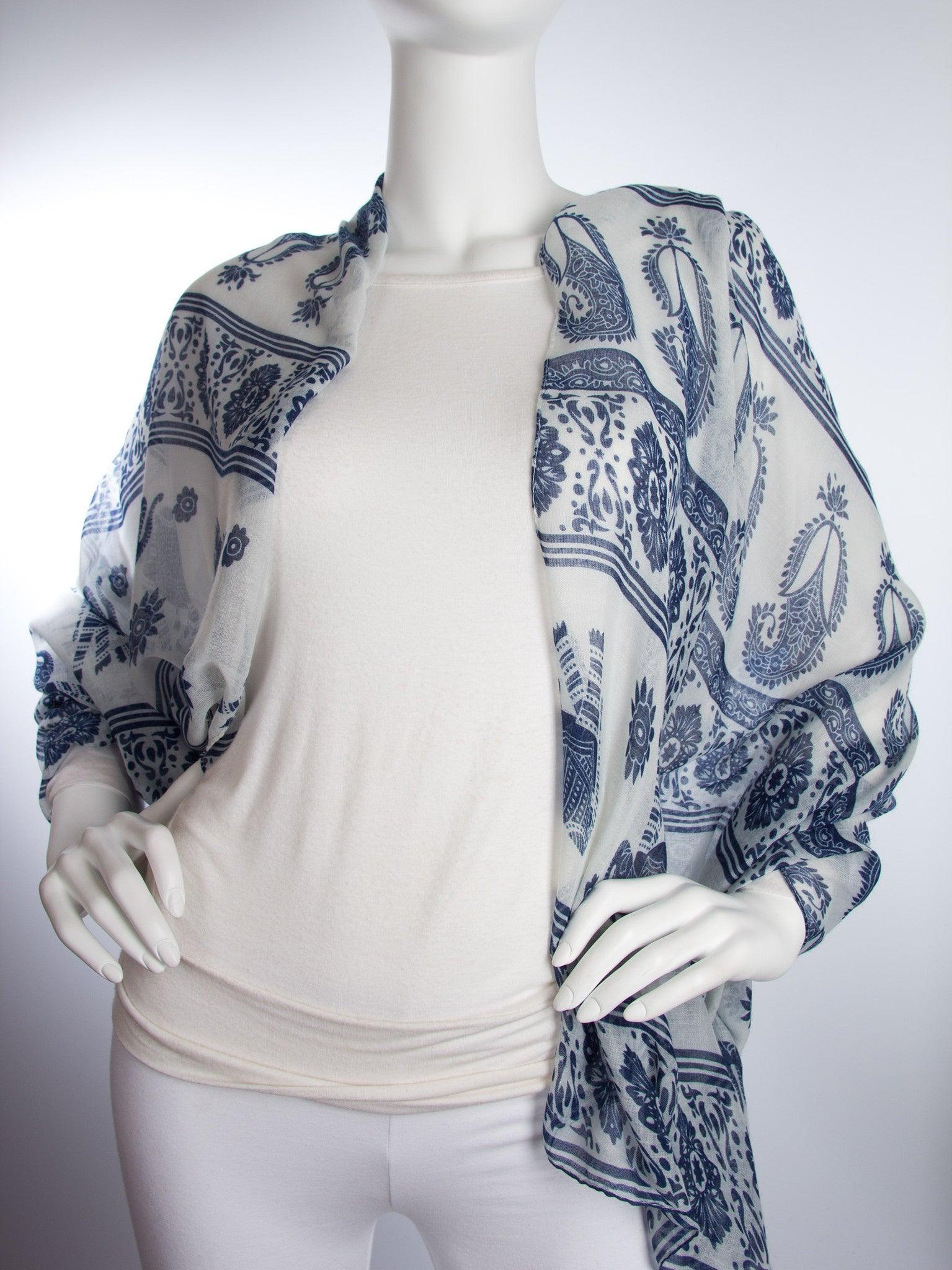 Scarves - Gaja Shawl, Paisley Indian Elephant Print Scarf, Shawl, Beach Wrap -() Bohomonde  - 17