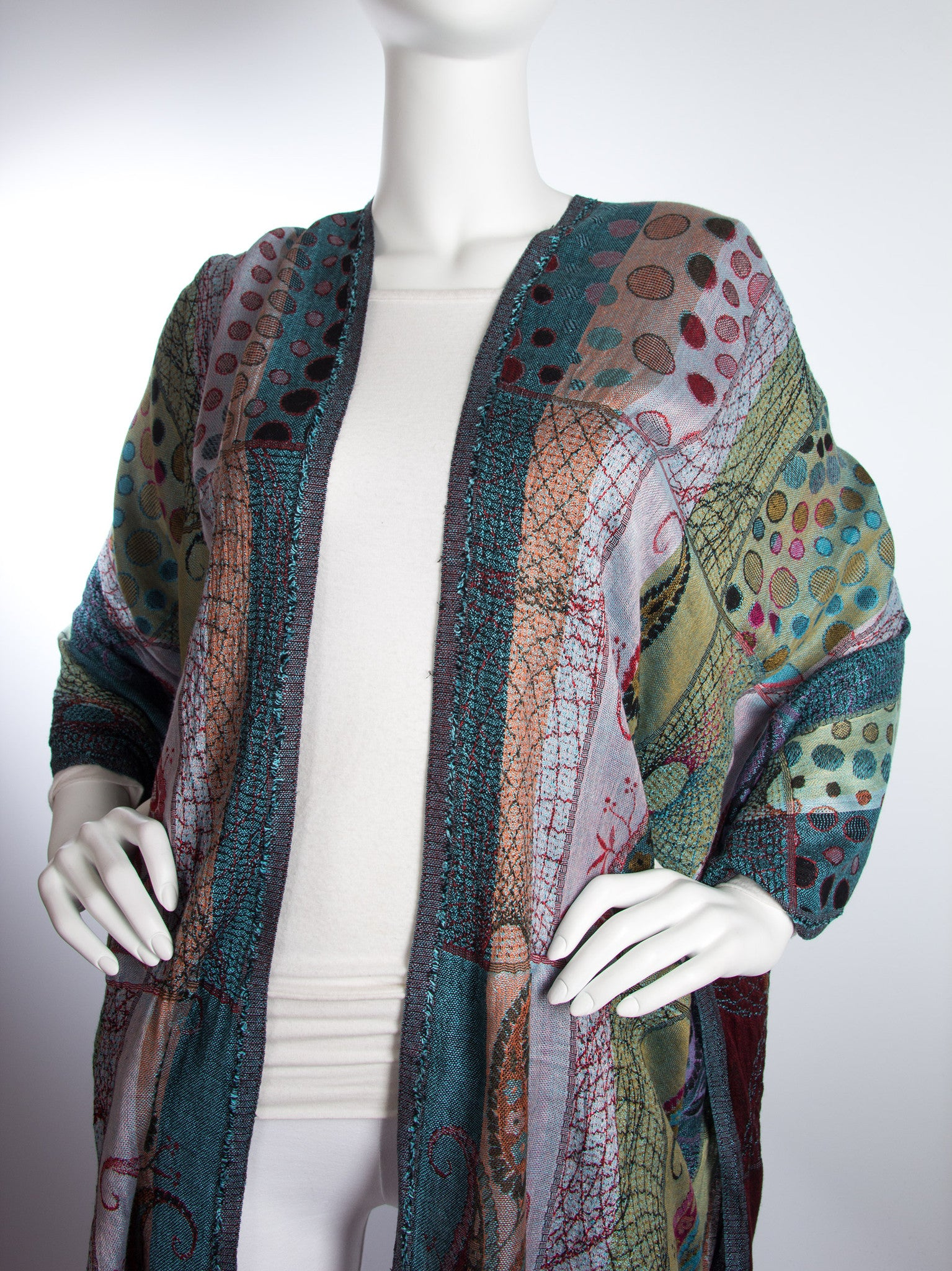Scarves - Harina Shawl, Woven Reversible Striped Pashmina Scarf, Hand Made in India -() Bohomonde  - 4