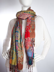 Scarves - Jivala Scarf, Woven Reversible Striped Pashmina Scarf, hand made in India -() Bohomonde  - 2