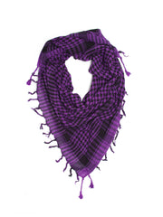 Scarves - Shemagh Scarf, 100% Cotton Square Scarf, Keffiah Scarf -(Purple/Black / One Size) Bohomonde  - 4