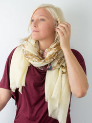 Scarves - Eleanor blanket scarf, oversized winter scarf, floral scarf -() Bohomonde  - 19