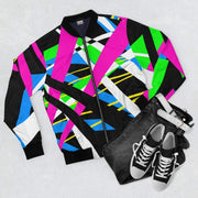 """Abstract"" Black Bomber Jacket for Men - Designs by Royi .B."