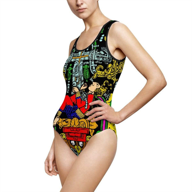 """Ancient Astronaut"" Custom One-Piece Swimsuit - Awesome, custom designed T-shirts & Art  
