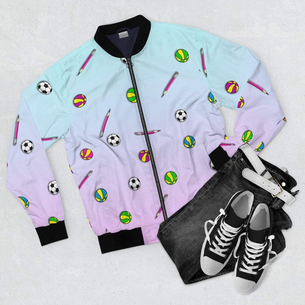 """Back to School"" Bomber Jacket for Men - Awesome, custom designed T-shirts & Art  
