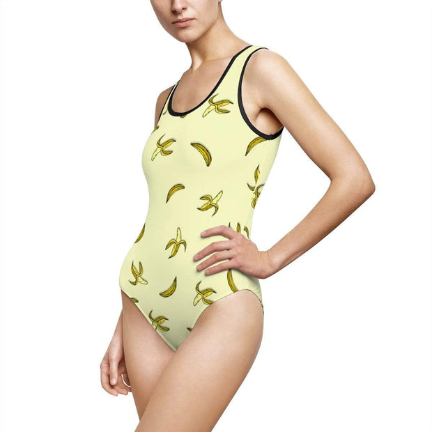 """Banana"" Custom One-Piece Swimsuit - Awesome, custom designed T-shirts & Art  