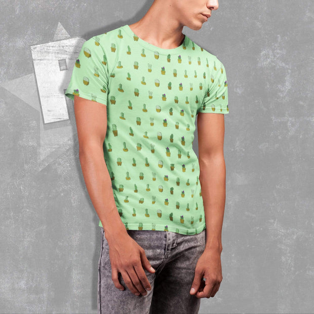 """Cactus"" Green T-shirt for Men - Awesome, custom designed T-shirts & Art  