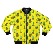 """Cactus"" Yellow Bomber Jacket for Men - Awesome, custom designed T-shirts & Art  