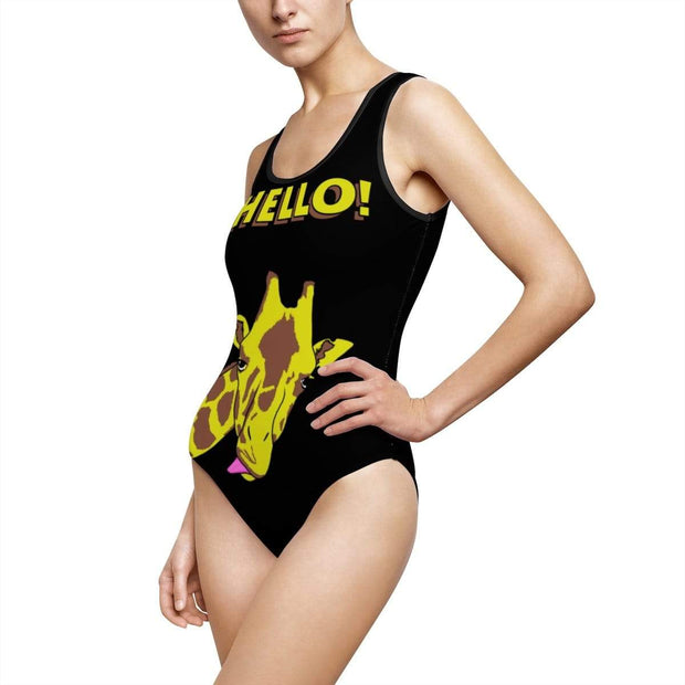 """Hello!"" Custom One-Piece Swimsuit - Awesome, custom designed T-shirts & Art  