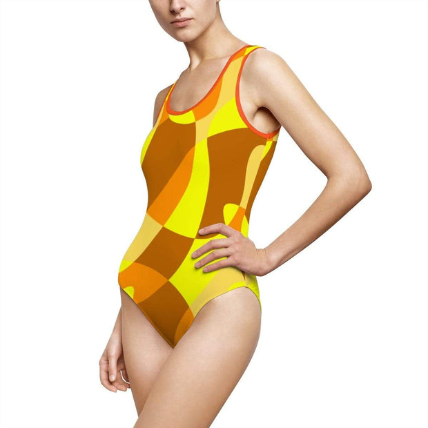 """Orange"" Custom One-Piece Swimsuit - Awesome, custom designed T-shirts & Art  
