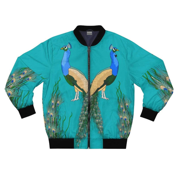 """Peacocks"" Bomber Jacket for Men - Designs by Royi .B."
