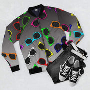 """Sunglasses"" Grey Bomber Jacket for Men - Awesome, custom designed T-shirts & Art  