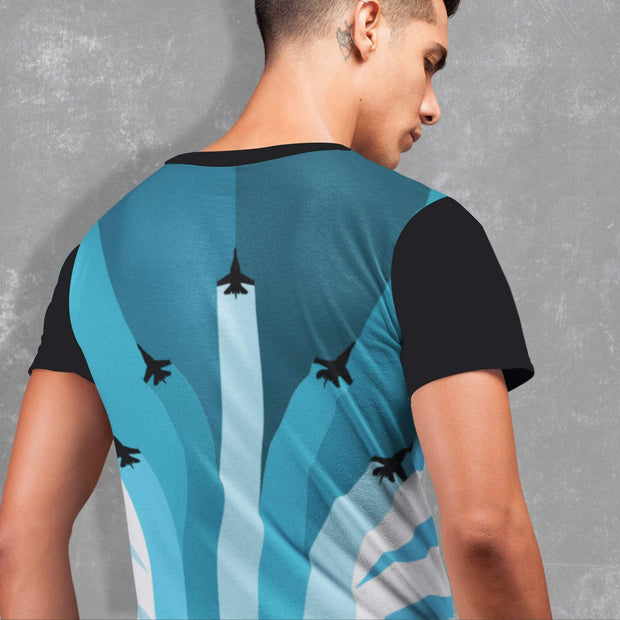 "Printify All Over Prints ""The Air Show"" T-shirt for Men"
