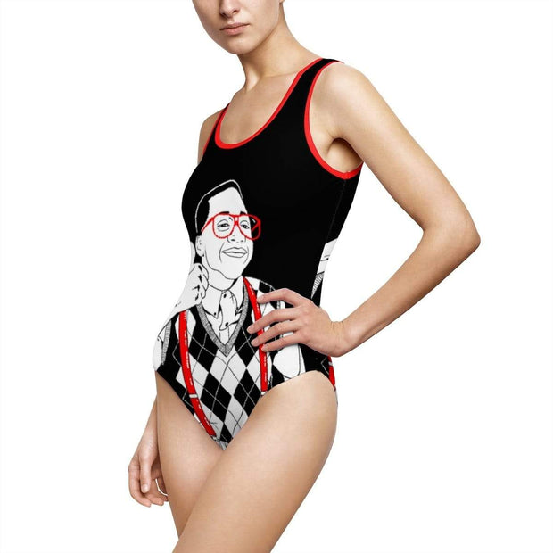 """Thumbs Up"" Custom One-Piece Swimsuit - Awesome, custom designed T-shirts & Art  