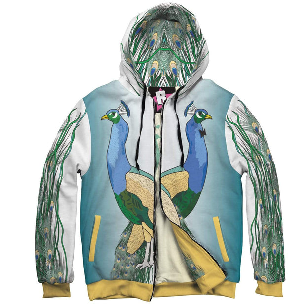 """Peacocks"" Custom Designed Hoodie - Designs by Royi .B."