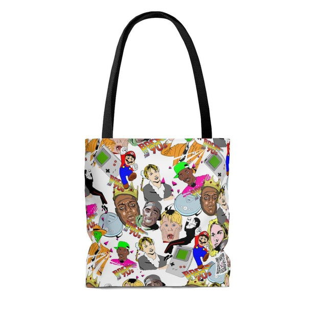 """Back to the 90's Party!"" Custom Tote Bag - Awesome, custom designed T-shirts & Art  