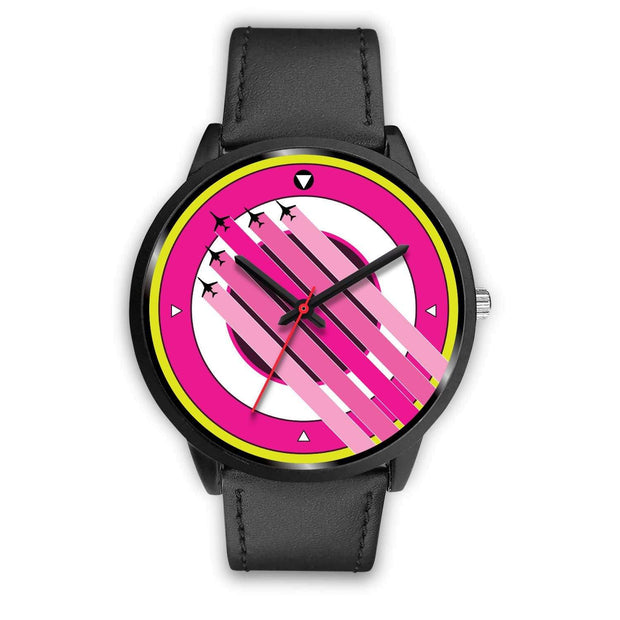 """The Air Show II"" Pink Custom Watch - Awesome, custom designed T-shirts & Art  