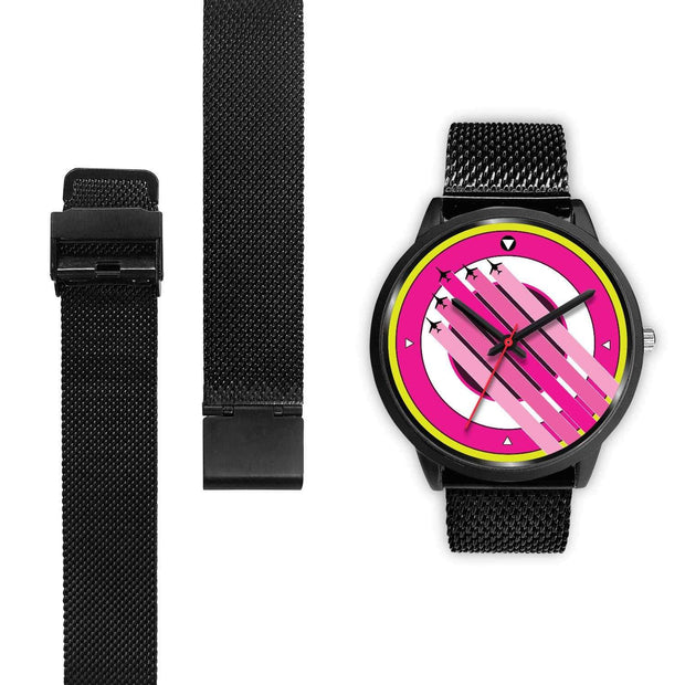 """The Air Show II"" Pink Custom Watch - Designs by Royi .B."