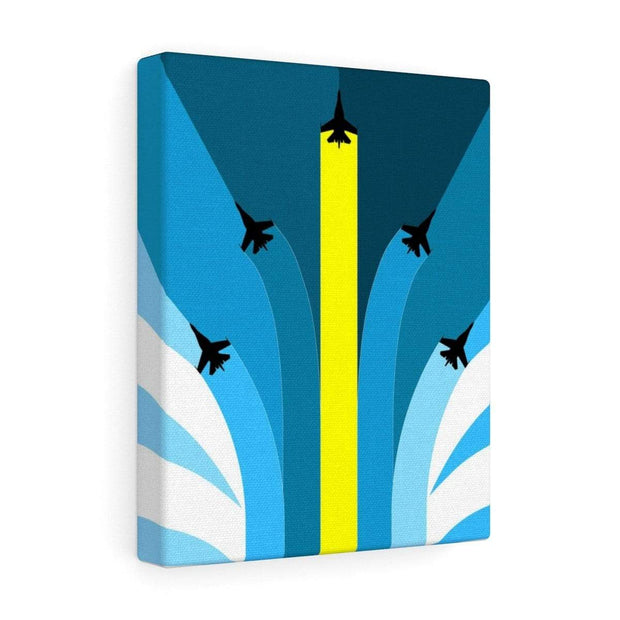 """The Air Show"" Gallery Wrap - Awesome, custom designed T-shirts & Art  