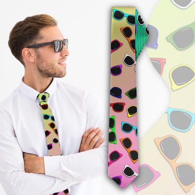 """Sunglasses"" Slim Necktie - Awesome, custom designed T-shirts & Art  