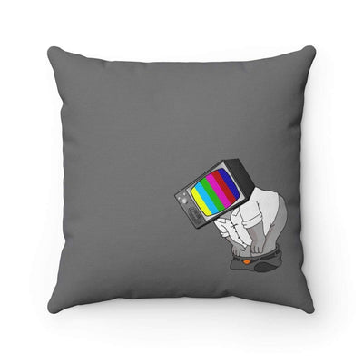 """Fart on TV"" Dark Grey Pillow - Awesome, custom designed T-shirts & Art  