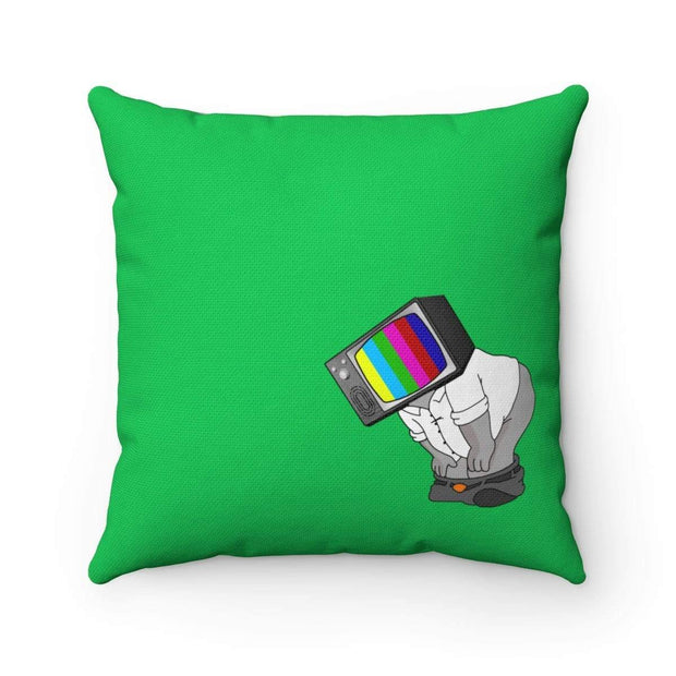 """Fart on TV"" Green Pillow - Awesome, custom designed T-shirts & Art  