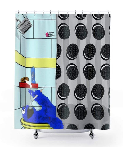 """Cookie Monstrous Death"" Shower Curtain - Awesome, custom designed T-shirts & Art  