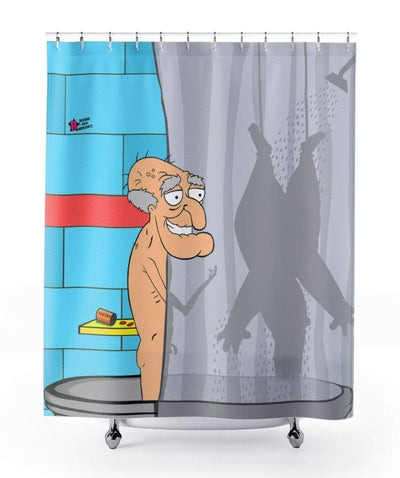 """It's Herbert's fun Time"" Shower Curtain - Awesome, custom designed T-shirts & Art  