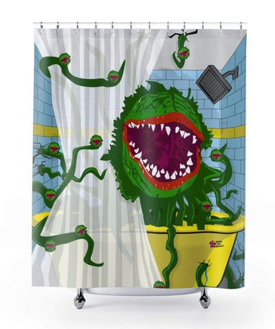 """Little Shop Of Horrors"" Shower Curtain - Awesome, custom designed T-shirts & Art  