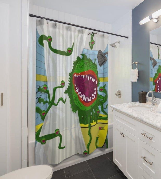 """Little Shop Of Horrors"" Shower Curtain - Designs by Royi .B."