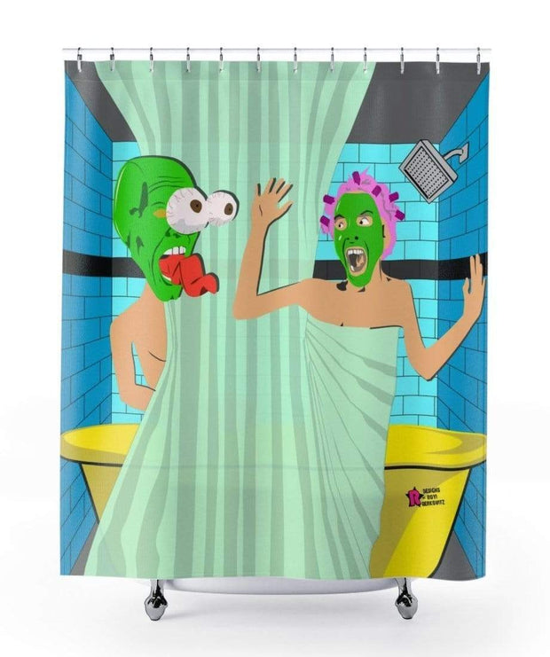 """Shower P-A-R-T-Y"" Shower Curtain - Designs by Royi .B."