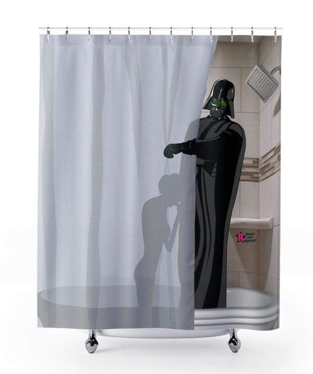 """The Dark Side Wins"" Shower Curtain - Designs by Royi .B."
