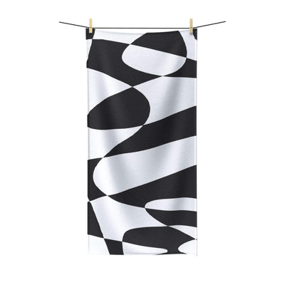"""Black & White"" Poly-Cotton Towel - Awesome, custom designed T-shirts & Art  