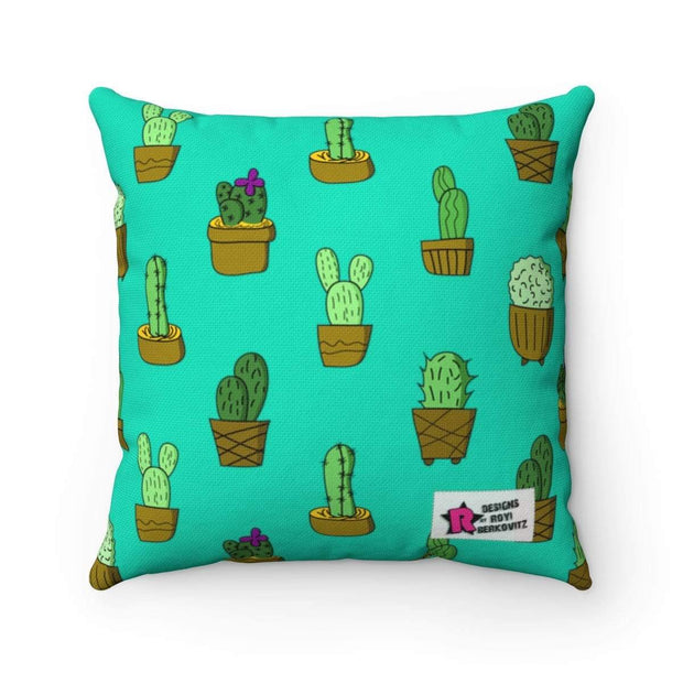 """Cactus #7""  Pillow - Awesome, custom designed T-shirts & Art  