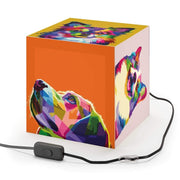 """Colorful Dogs"" Cube Lamp - Awesome, custom designed T-shirts & Art  