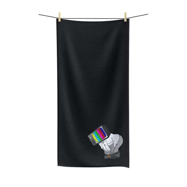 """Fart on TV"" Poly-Cotton Towel - Awesome, custom designed T-shirts & Art  