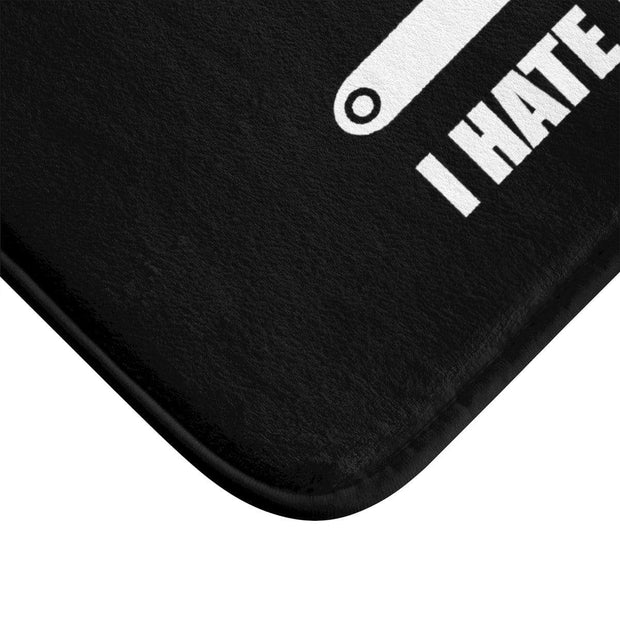"""I Hate The Gym"" Bath Mat - Designs by Royi .B."