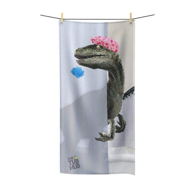 """Velociraptor"" Poly-Cotton Towel - Designs by Royi .B."