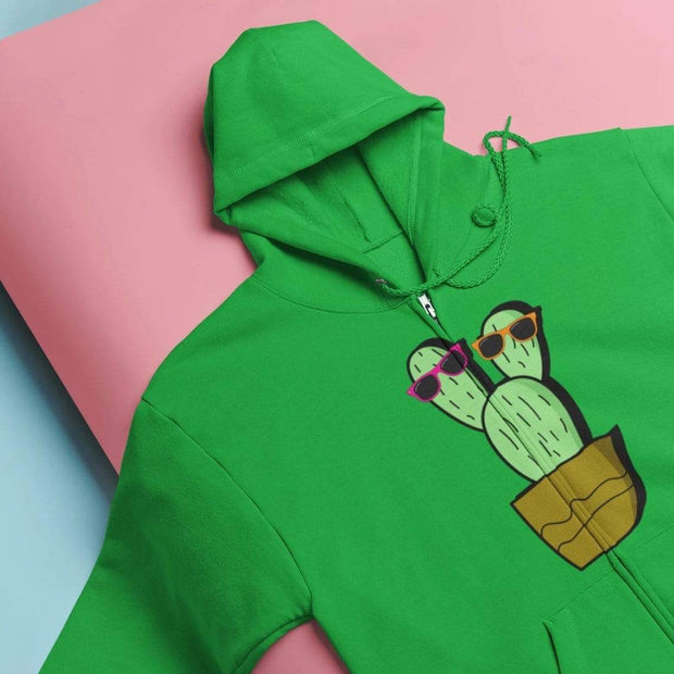"""Cactus #2"" Unisex Zip Hoodie - Awesome, custom designed T-shirts & Art  