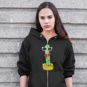 """Cactus #5"" Unisex Zip Hoodie - Awesome, custom designed T-shirts & Art  
