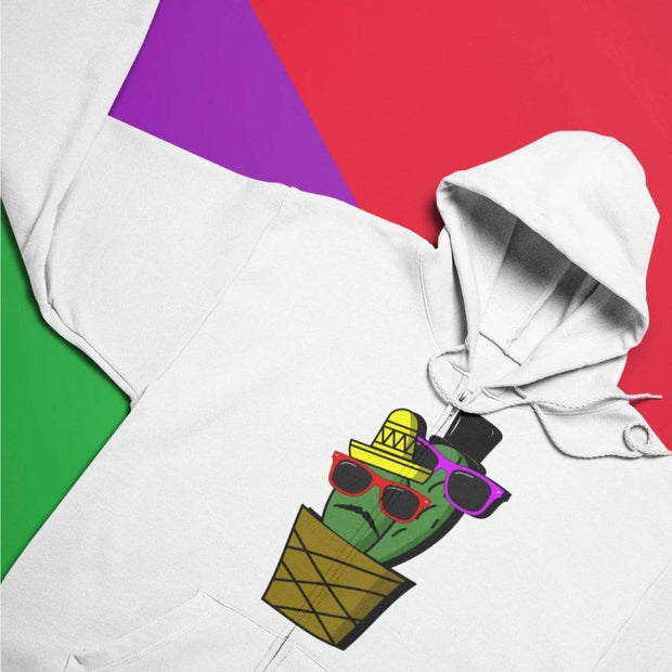 """Cactus #6"" Unisex Zip Hoodie - Awesome, custom designed T-shirts & Art  