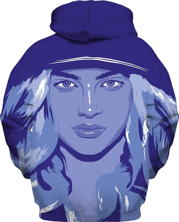 """Blue Girl"" Unisex Hoodie - Awesome, custom designed T-shirts & Art  