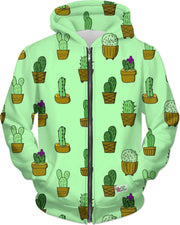 """Cactus"" Green Unisex Hoodie - Awesome, custom designed T-shirts & Art  