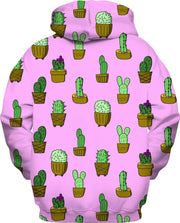 """Cactus"" Pink Unisex Hoodie - Awesome, custom designed T-shirts & Art  