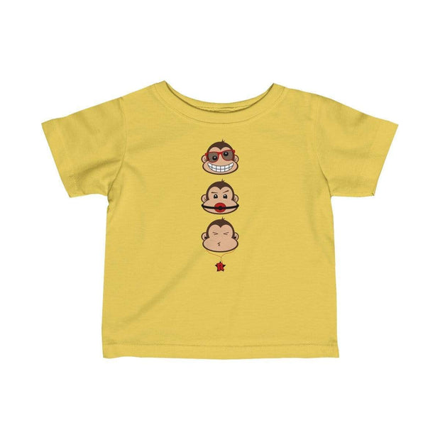 """The 3 Monkeys"" Baby tee - Awesome, custom designed T-shirts & Art  