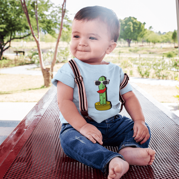 """Cactus #5"" Baby tee - Awesome, custom designed T-shirts & Art  