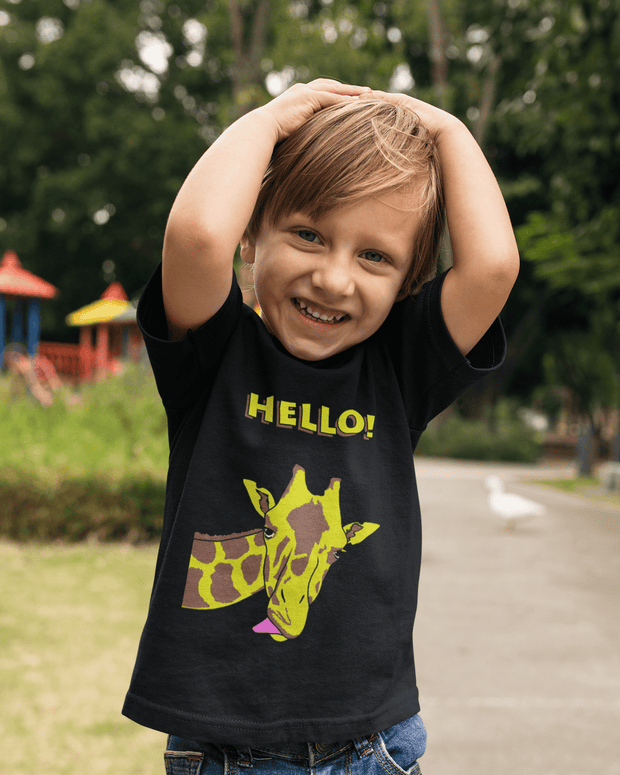 """Hello!"" T-shirt for Kids - Designs by Royi .B."