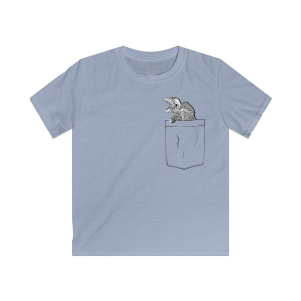 """Pocket Cat"" T-shirt for Kids - Designs by Royi .B."