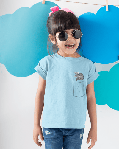 """Pocket Cat"" T-shirt for Kids - Awesome, custom designed T-shirts & Art  