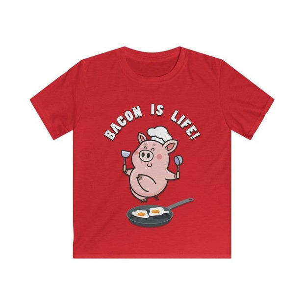 "Printify Kids clothes Red / L ""Bacon Is Life"" T-shirt for Kids"