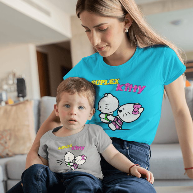 """Suplex Kitty"" Baby tee - Awesome, custom designed T-shirts & Art  